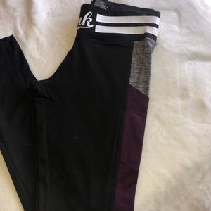 Victoria's Secret Ultimate Leggings Black/Purple